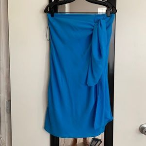 3.1 Phillip Lim strapless draped cocktail dress